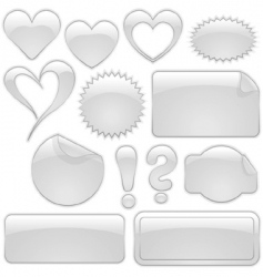 glass icons vector image vector image