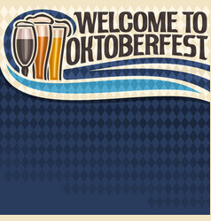 poster for oktoberfest text vector image vector image