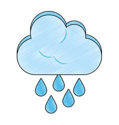 rainy weather symbol vector image vector image
