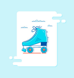 roller skate icon thin line for web and mobile vector image vector image