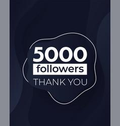 5000 followers banner design vector
