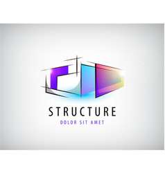 Abstract colorful geometric structure vector