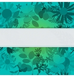 Abstract Natural Spring Background with Flowers vector image