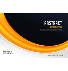 Abstract yellow and black presentation poster vector