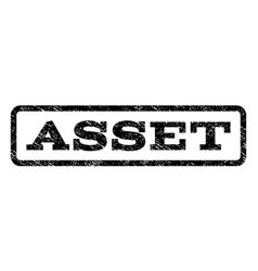 Asset watermark stamp vector