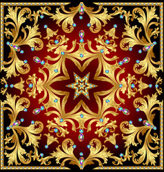 background with a rosette of gold and precious vector image