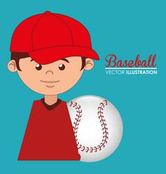 baseball sport player character vector image