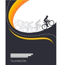 bicycle race event poster design vector image