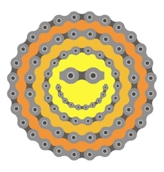 Bicycle smile sun chain part vector