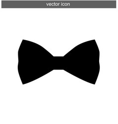 bow tie icon silhouette isolated vector image