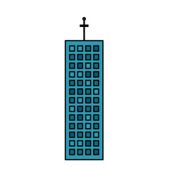 building company office skyscraper vector image