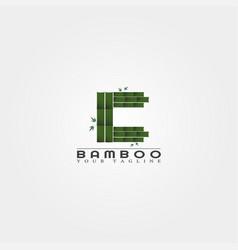 C letter bamboo logo template creative design vector