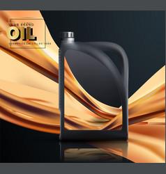 Can engine oil in splash oil engine oil vector
