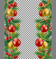 christmas border set vector image