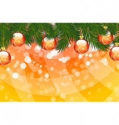 Christmas fir tree vector image