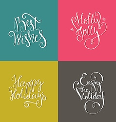 Christmas Posters vector image