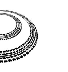 circle tire tracks silhouette vector image