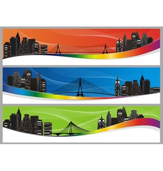 city set color abs vector image