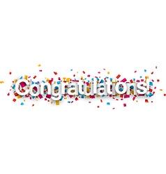 Congratulations paper confetti sign vector image