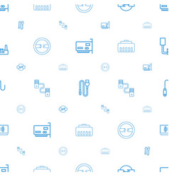 Connector icons pattern seamless white background vector