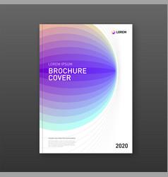 Corporate brochure cover design template vector