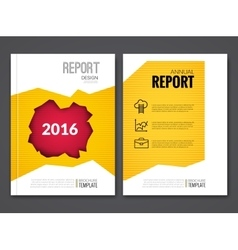 cover report business yellow red hole geometric vector image