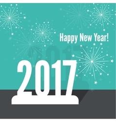 creative happy new year 2017 vector image