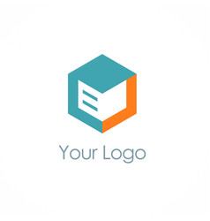 Cube storage box logo vector