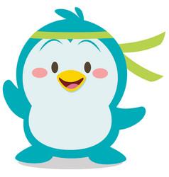 Cute penguin character art vector