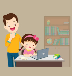 dad be happy for something of children girl vector image