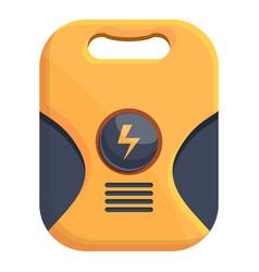 Device defibrillator icon cartoon style vector