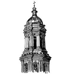 Digital drawing historical building vector