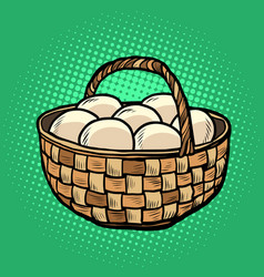egg basket farm products vector image