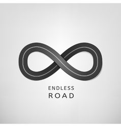 Endless road vector