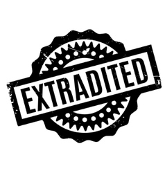 Extradited rubber stamp vector
