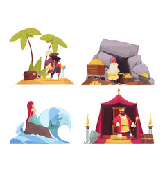 fairy tale characters concept icons set vector image