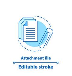 File attachment test concept icon vector