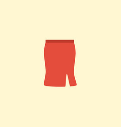 flat icon skirt element of vector image