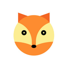 fox cartoon animal head vector image