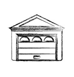 garage door house vector image