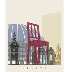 Geneva skyline poster vector