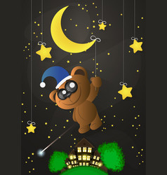 Good night moon vector