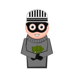Happy thief cartoon vector