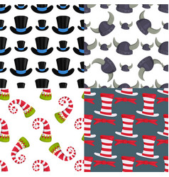 hats funny caps for party holidays seamless vector image