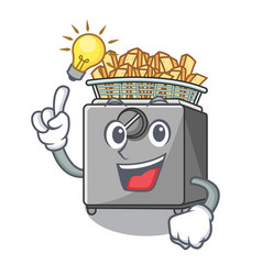 Have an idea deep fryer machine isolated on mascot vector