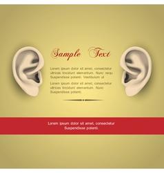Human ears vector