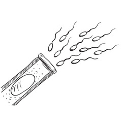 In Vitro Fertilization Drawing vector