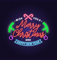 Joy to world merry christmas and happy new vector