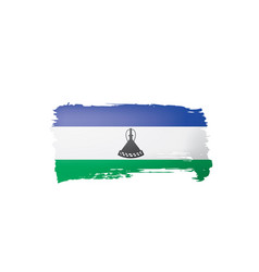 lesotho flag on a white vector image