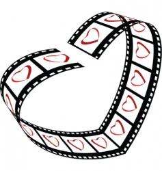 Love film strip vector